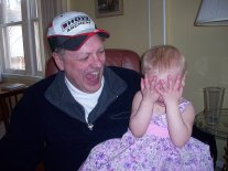 Sophia with Uncle Larry, spring 2009