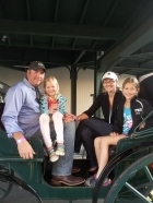 The Petersens gearing up for a carriage ride.
