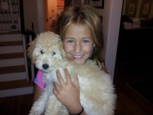 Serina loved Clementine, the  goldendoodle pup.