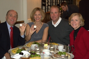 CEO Charlie Lanktree, left, and his wife, Donna, far right, enjoyed breakfast together in NYC.