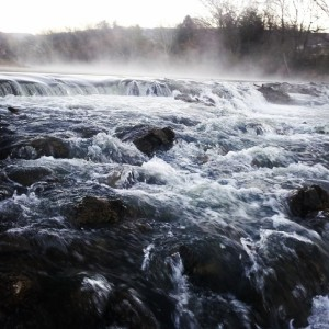 "Aldridge Creek boasts borderline ""rapids"" after a torrential downpour."