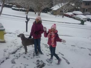 serina and sophia snow 2014 feb