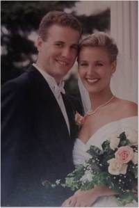 David and me on our wedding day: May 4, 1996.