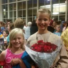 Serina with her proud little sister, Sophia, after opening night.